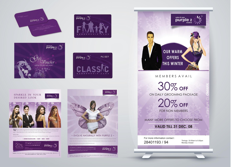 Purple 2 Salon Spa Marketing Material The Cre8ive Canvas